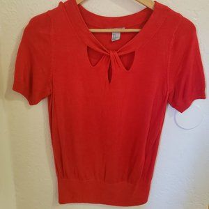 H&M Short-Sleeve Red Top